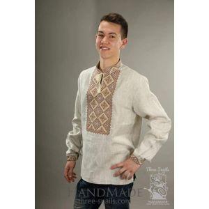 """Mens linen shirt """"Golden Sand"""""""