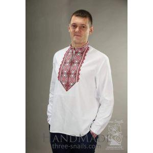 """Mens linen shirt """"White Swan"""""""