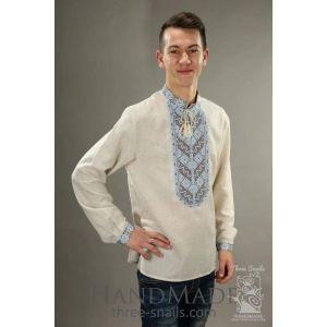 "Mens long sleeve shirt ""Mountain river"""