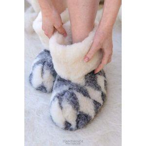 "Mens slippers  ""Gray rhomb"""