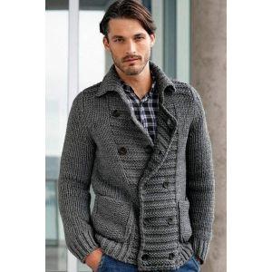 Men's wool cardigan