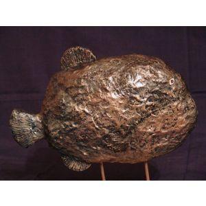 """Miniature ceramic sculpture """"Fish"""""""