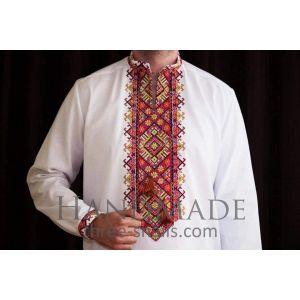 Modern embroidery shirt. Traditional vyshyvanka
