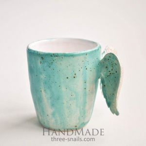 "Mug with wings ""Blue"""