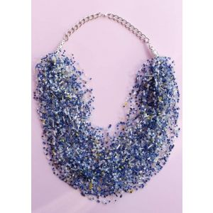 """Necklace and earring set """"Cornflower field"""""""