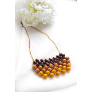 """Necklace of glass beads """"Candied"""""""