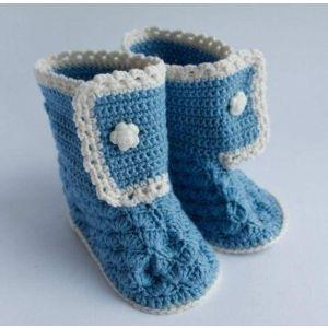 "Newborn baby shoes ""Blue sky"""