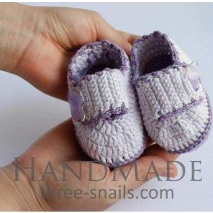 """Newborn shoes """"Violet lace"""""""
