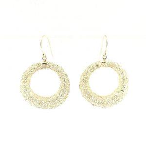 Openwork hoop earrings
