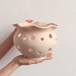 Orchids ceramic pot