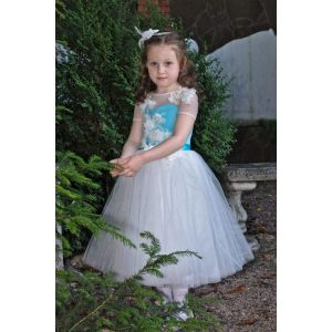 "Party dresses for little girls ""Blue patterns"""