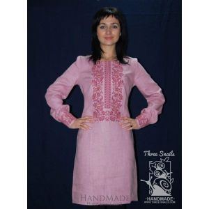 "Pink dress with embroidery ""Rose Mary"""
