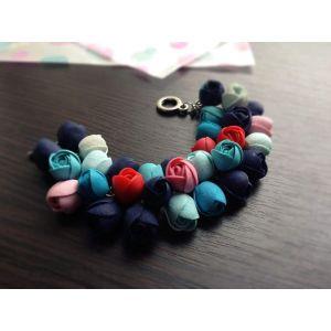 "Polymer clay bracelet ""Bright buds"""