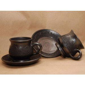 Pottery coffee mug «Arabica Flower»