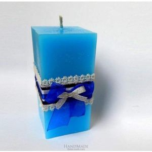 """Prism candle """"Fire and ice"""""""