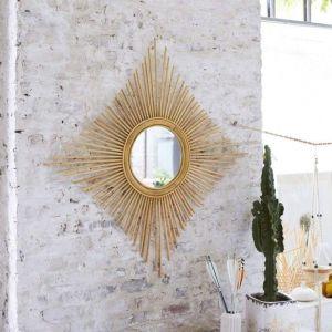 Rattan handmade mirror