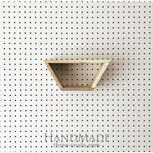 Reclaimed wood half hexagon shelf