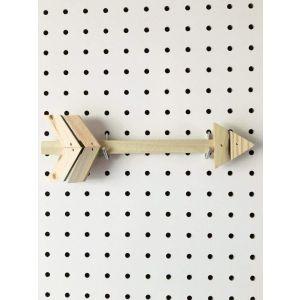 Reclaimed wood mini arrow