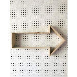 Reclaimed wood shelf arrow