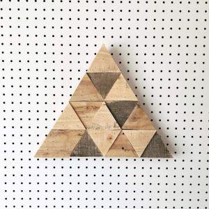 Reclaimed wood triangle art