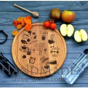 Round cutting board for pizza