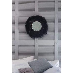 Round feather mirror