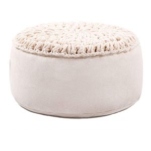 Round pouf seating