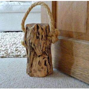 """Rustic wood door stopper """"Log"""""""