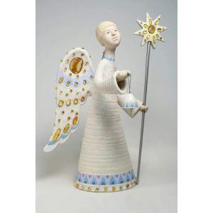 "Sculpture decorative ceramic ""Carol angel"""