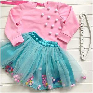 Set for girl with tutu skirt