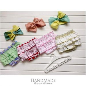 Set of 4 bloomers for toddler girls