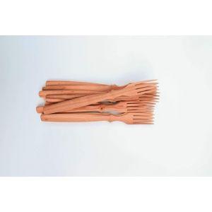Set of decorative wooden forks
