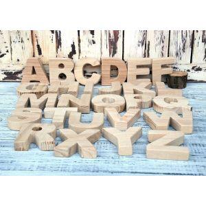 "Set of wooden letters ""Alphabet"""