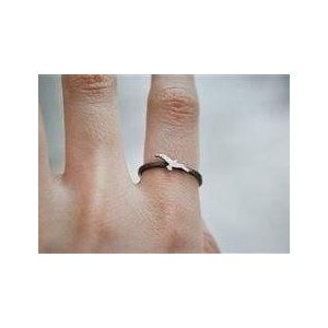Silver ring for women 'Tiny eagle""