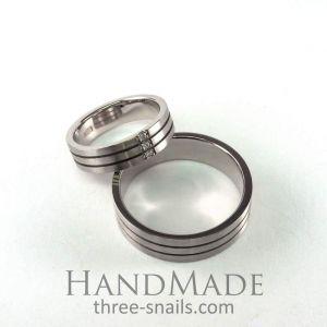 "Silver wedding rings ""Harmony"""