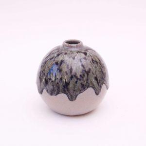 Small dark green vase