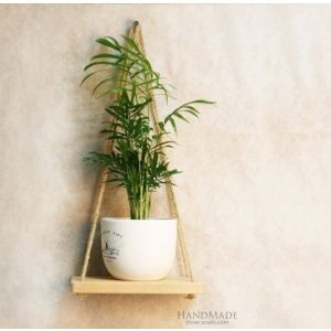 Small hanging shelf natural