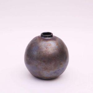 Small metallic vase