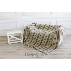 """Sofa throw cover """"Gray stripes"""""""