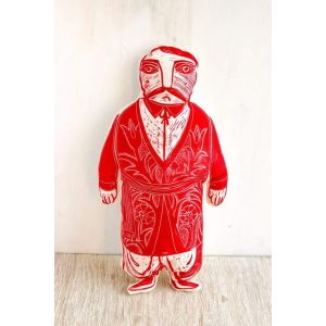 "Soft fabric doll ""Kozak Ivan"""