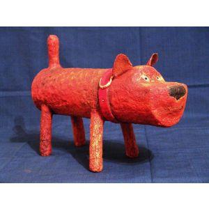 """Souvenir ceramics handmade """"Red dog"""""""