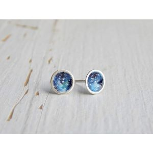 "Sterling silver earrings ""Galaxy"""