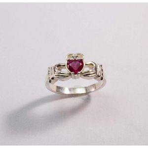 "Sterling silver jewelry. Irish ring ""Pink heart"""