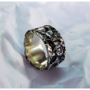 """Sterling silver ring """"Creased paper"""""""