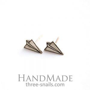 """Stud earrings for women """"Planes"""""""