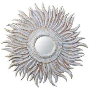 Sunburst design mirror