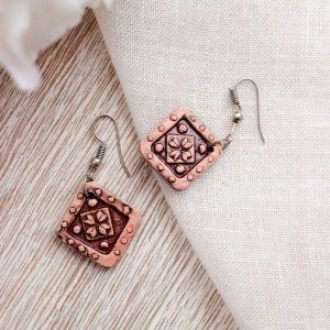 "Сute earrings ""Ceramic pattern"""