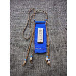 "Talisman pendant. ""Blue water"" wooden pendant"