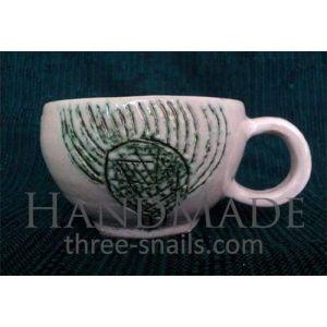 """Tea cup """"Green bur"""""""