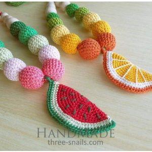 "Teething beads ""Rich fruit"""